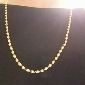 Jewelry - Sterling silver over gold 18 inch chain